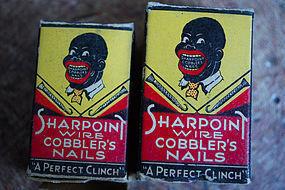 XRare1933 Sharpoint Nails Black Face Advertising Boston