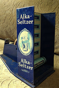 Unique C1940 Pharmacy Alka-Seltzer Medicine Display