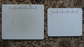 Two Vintage 1920 Pharmacy Drug Store Ceramic Pill Tiles