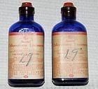 2 Fine Rexall Cobalt Blue Chloroform Poison bottles