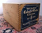 Old School House Chalk Box Cobalt Paper Label