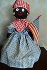 C1930s Black Americana Patriotic 4th of July Mammy Bottle Doll