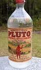 2 vintage French Lick Ind, Pluto Water Mineral Bottles Drug Store