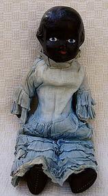 C1910 Black Memorabilia Composition Shoulder Head Doll
