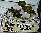 1924 Advertising Diecut Black Man Uncle Wabash Cupcakes