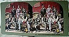 Stereoview Black Men Harvesting Florida SugarCane1890