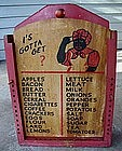 RARE1940s Black Americana Mammy Grocery Board Knife Box