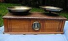 Fine 19thC Troemner Oak Marble Top Balance Scale