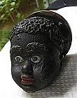 1920 Black Memorabilia Cast Iron Boy's Head Paperweight
