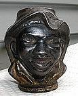 C1910 Johnny Griffin Black Memorabilia Cast Iron Bank