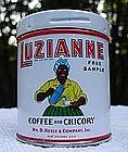 1920s Sample Size LUZIANNE Coffee Tin Black Memorabilia