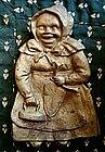 Ex RARE 1930s Cast Iron Toledo Stove Mammy Spoon Rest