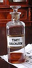"Apothecary Pharmacy  Bottle ""TINCT. COLCH.SEM."""