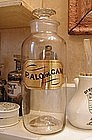 Large 19thC Apothecary Pharmacy Powder Bottle ALOE