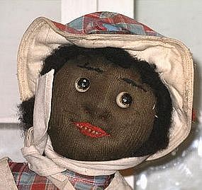 "Fab 1920 Black Memorabilia Handmade Cloth Doll ""Sallie"""