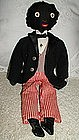 Exceptional C1920 Black Golliwog Doll in Formal Attire