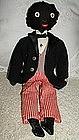 Exceptional C1920 Black Golliwog Doll in Formal Attire
