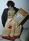 1930 Alabama WPA Folk Art Black Cloth Washerwoman Doll