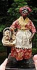 1920s New Orleans Vargas Wax Black Doll Praline Seller