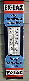 FAB Vintage Drug Store Porcelain EX-LAX Thermometer