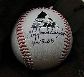SignedBall Negro League Baseball Player CLIFFORD LAYTON