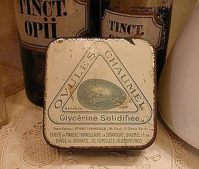 1920 French Female Specific OVULES CHAUMEL Medicine Tin