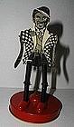 1930 USA Dancing JIGGER Black Man in Tuxedo Tin Toy