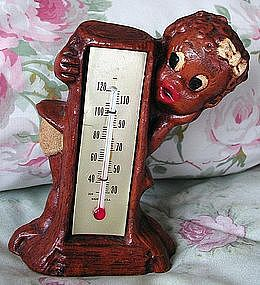 RARE 1955 Little Black Girl Multi-Products Thermometer