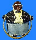 RARE 1930-40s Japan Black Butler Ceramic Cracker Jar