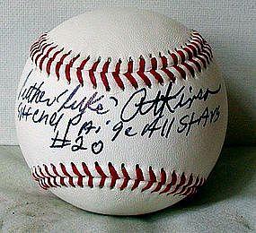 SignedBall Negro League Baseball Player Luke Atkinson