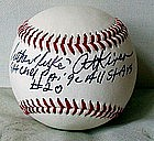 SignedBall Negro League Baseball Player Luke Atkinson
