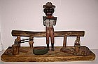 1920 Black Man Watermelon Folk Art Sculpture Provenance