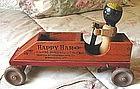 1930Happy Ham Vermont Black Wood Pull Toy Advertisement