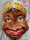 1940s Japan Ceramic Black Americana Mammy Wall Pocket