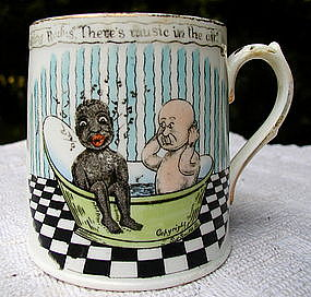 Humorous Black Memorabilia 1920 English Child Baby Mug
