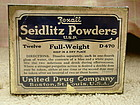 Vintage 1930s Rexall Seidlitz Powder Tin Boston