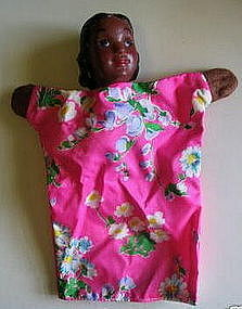 Sweet Vintage 1950s Hazelle Co. Black Girl Hand Puppet