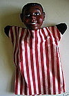 Delightful Vintage 1950s Hazelle Black Boy Hand Puppet