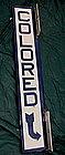 1930-40 Jim Crow EnameledMetal Segregation COLORED Sign