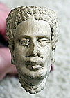 C1920s French Clay Tobacco Pipe w/ Black Man Head