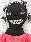 Vintage-Look Original Artisan Black Mammy Cloth Doll
