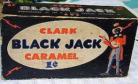 RARE 1920s Clark Candy Company BLACK JACK Caramel Box