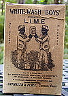 EX RARE 19thC Canaan CT Black Twins White-Wash Lime Box