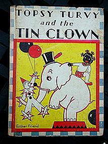 1934 Topsy Turvy + the Tin Clown Black Memorabilia Book