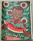 1932 Black Boy w/ Watermelon School Notebook Canada