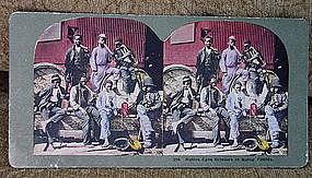 Four C1910 Black Memorabilia Jim Crow Stereoview Cards