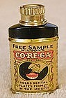 Vintage 1933 COREGA Dentist Dental Powder Sample Tin