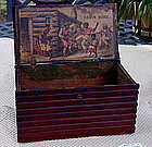 RARE 1880 Black Memorabilia Log Cabin Tobacco Cigar Box