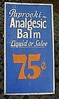 1940s Pharmacy Drugstore Analgesic Advertisement Sign