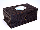 Anglo Indian Carved Ebony Box